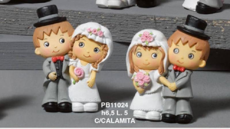 Coppie sposi fidanzati sposi spiritosi 65 cm assortiti for Regali spiritosi