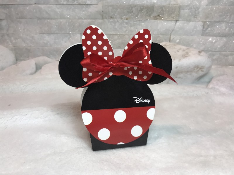 Regali e Bomboniere - Prodotti - Disney Scatoline e Box - Scatola portaconfetti  mm. 55x40x105 MINNIE RED & BLACK