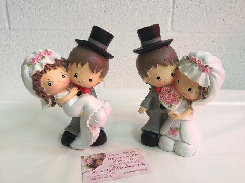Matrimonio e anniversario sposi spiritosi 18 cm for Regali spiritosi
