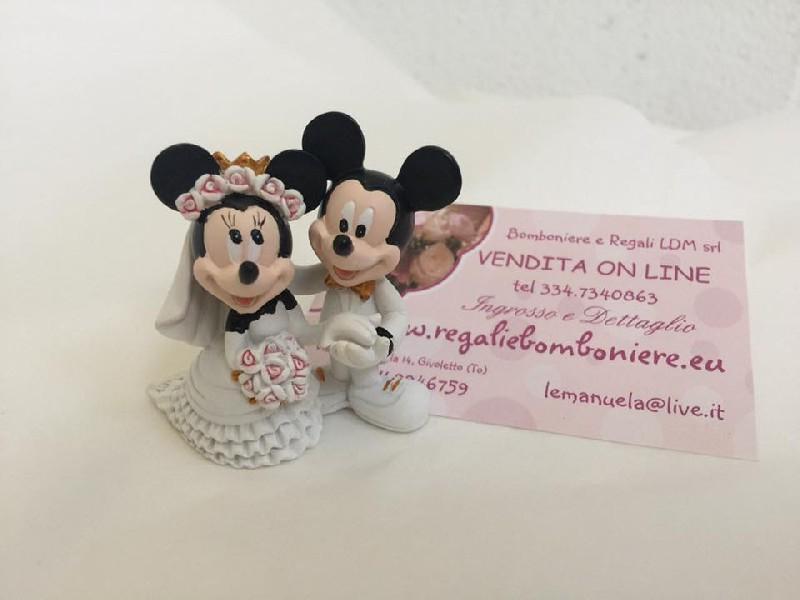 Bomboniere Matrimonio Disney.Bomboniere Disney Wd Mickeyminnie Coppia Sposi H5 Cm Rescast