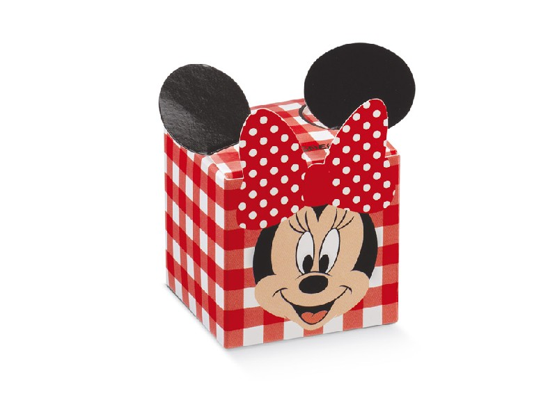 Regali e Bomboniere - Prodotti - Disney Scatoline e Box - Scatola mm.50x50x50 FLEUR MINNIE  PARTY