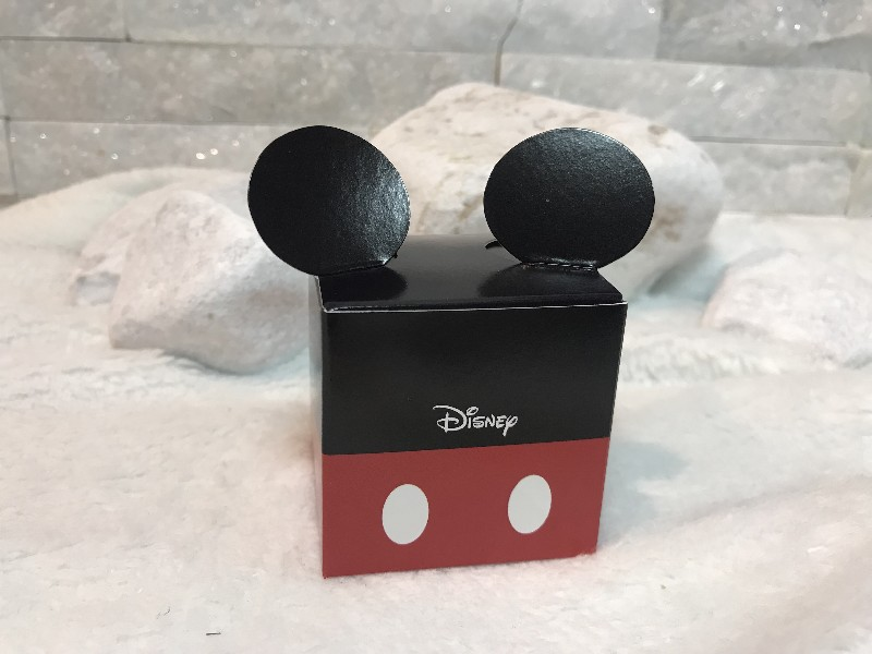 Regali e Bomboniere - Prodotti - Disney Scatoline e Box - Cubetto mm. 50x50x50 MICKEY RED & BLACK