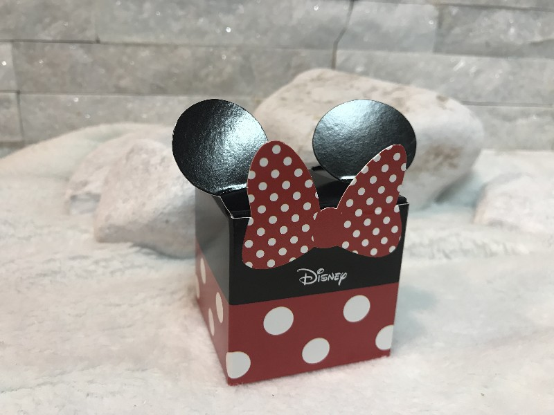 Regali e Bomboniere - Prodotti - Disney Scatoline e Box - Cubetto mm. 50x50x50  MINNIE RED & BLACK