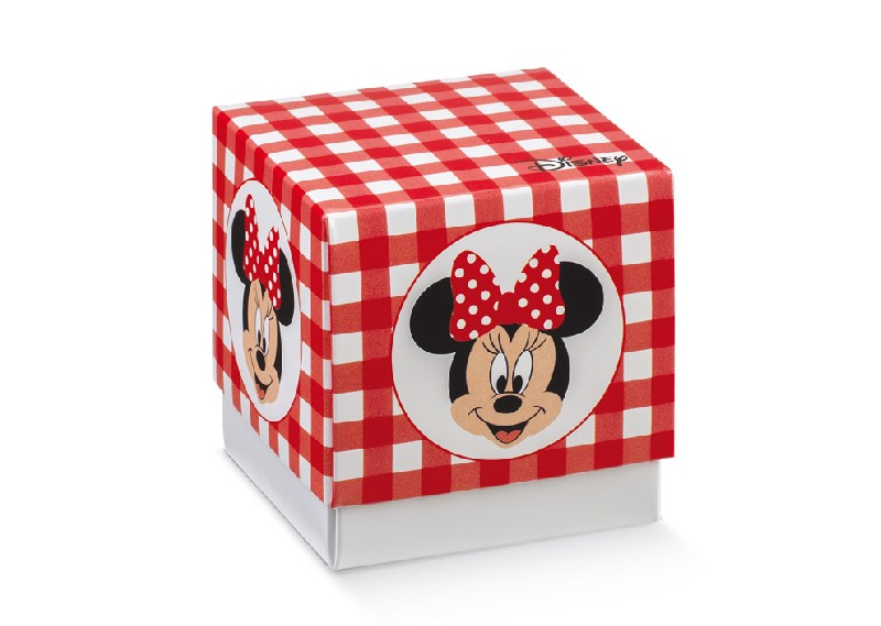 Regali e Bomboniere - Prodotti - Disney Scatoline e Box - Scatola mm. 70X70X70 FLEUR MINNIE PARTY